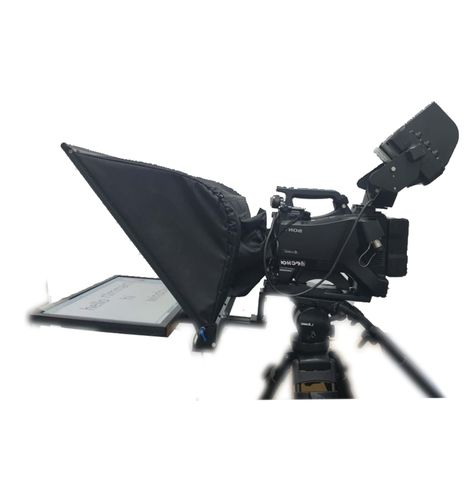 24 inch broadcast teleprompter with 1 monitor