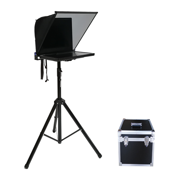 19 inch portable teleprompter with 1 LCD